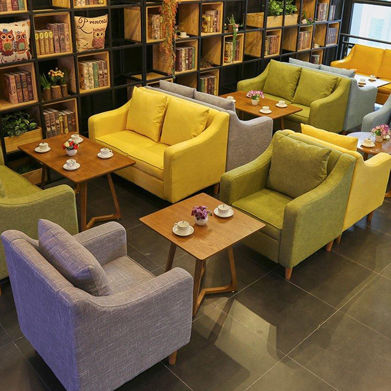 Modern Indoor Restaurant Wood Table And Dining Sofa SE017-5