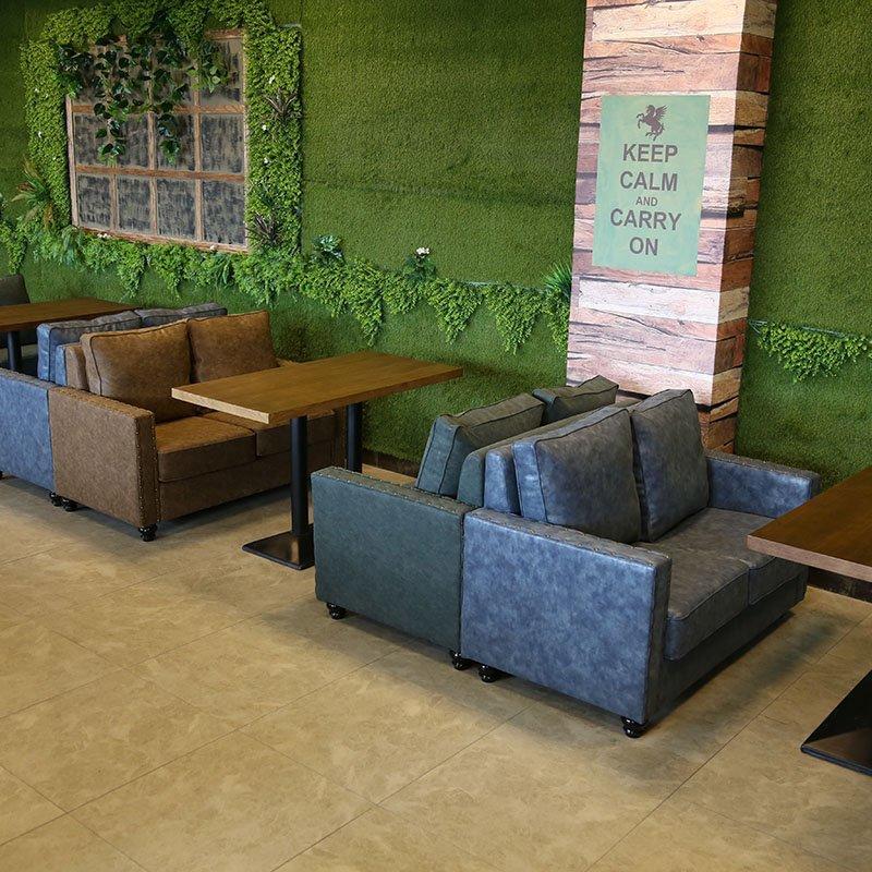 Rustic Rectangle Pub Table And Double Sofa SE019-9