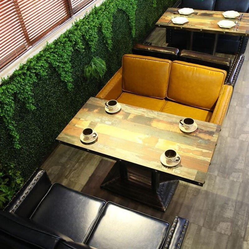 Classical Restaurant Sofa Bench Design And Archaize Table SE019-10
