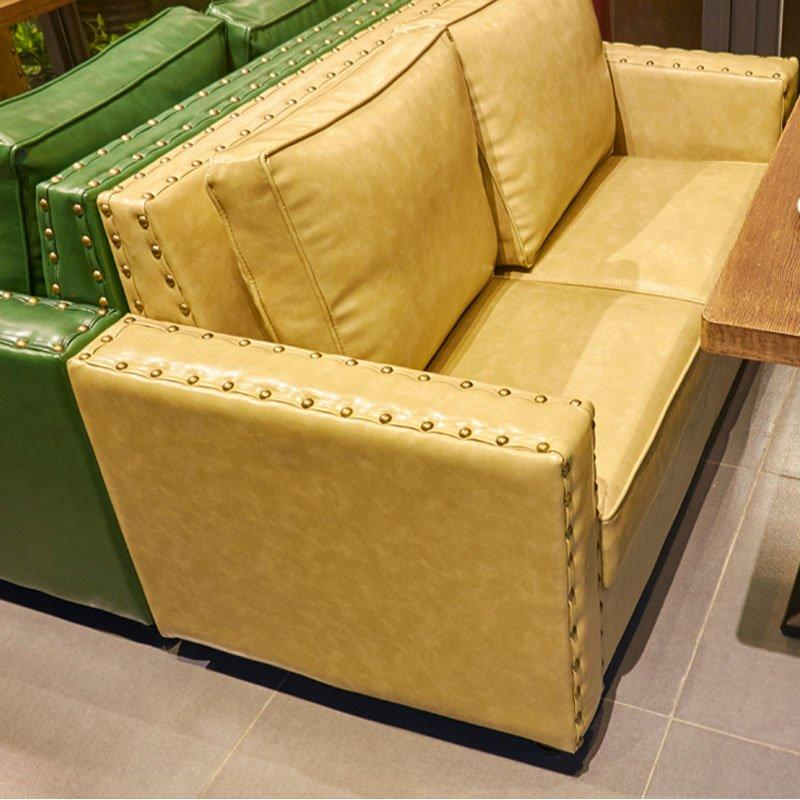 Modern Wood Table And Upholstered Dining Banquette Sofa SE019-12