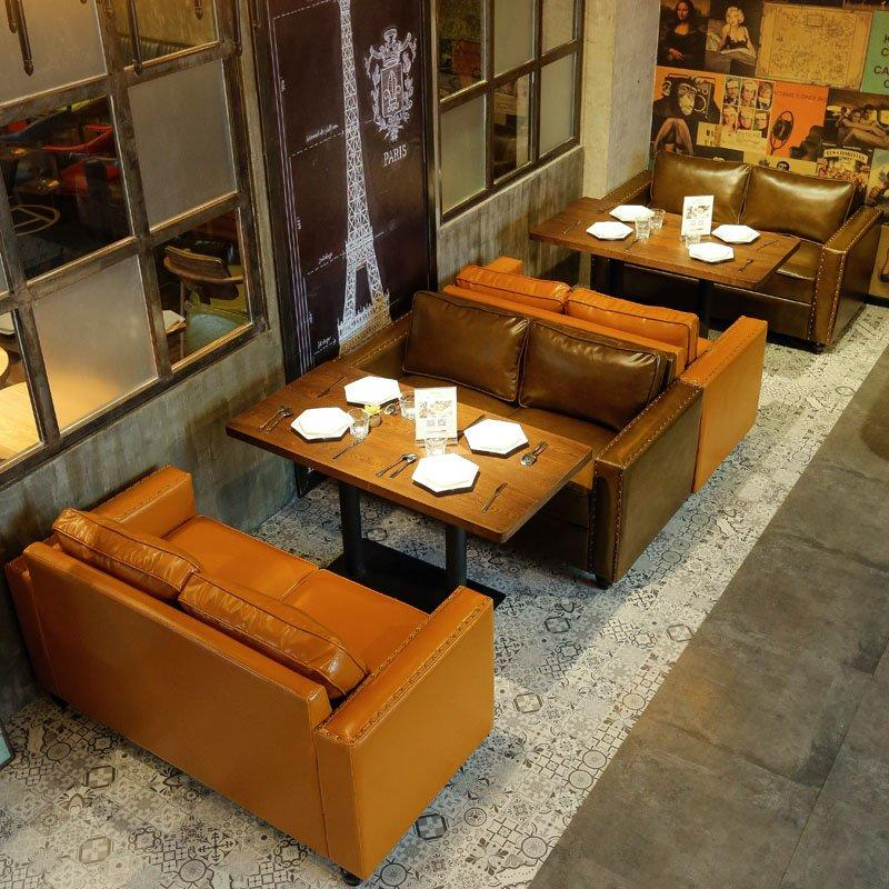 Modern Dining Table And Leather Double Seat Sofa SE019-15
