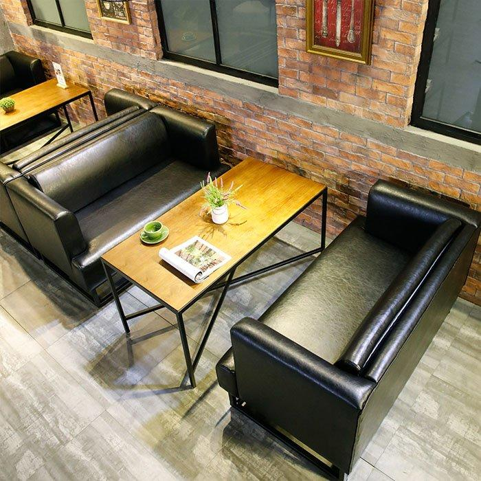 Loft Style Pub Metal Dining Tables And Sofas SE032-1