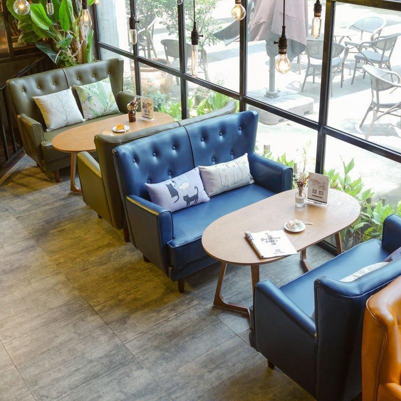 Luxury Solid Wood Tea Table And High Back Sofa SE034-1