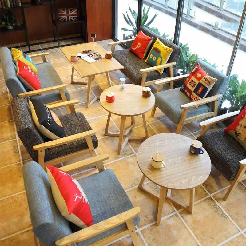 Nordic Lounge Table And Timber Sofa Chair SJ002-10