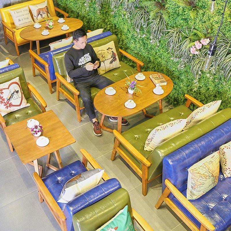 Scandinavian Style Bakeshop Wood Table And Leisure Sofa SJ002-16