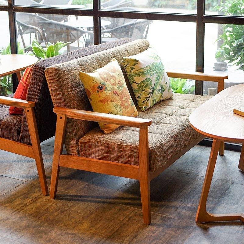 Quality Wooden Armrest Sofa And Table Set SJ002-23