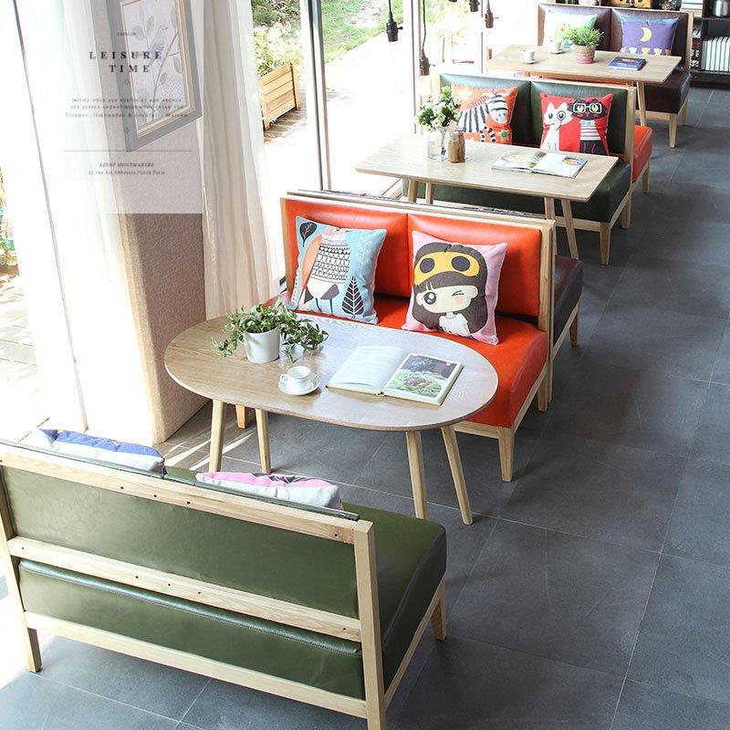 Modern Eatery Timber Table Chair And Bench Sofa SJ007-1