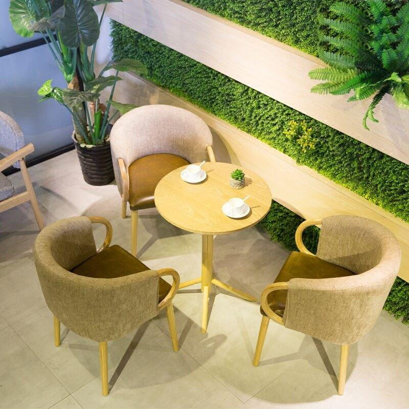 Modern Hotel Wood Tables And Receptional Chairs GROUP208