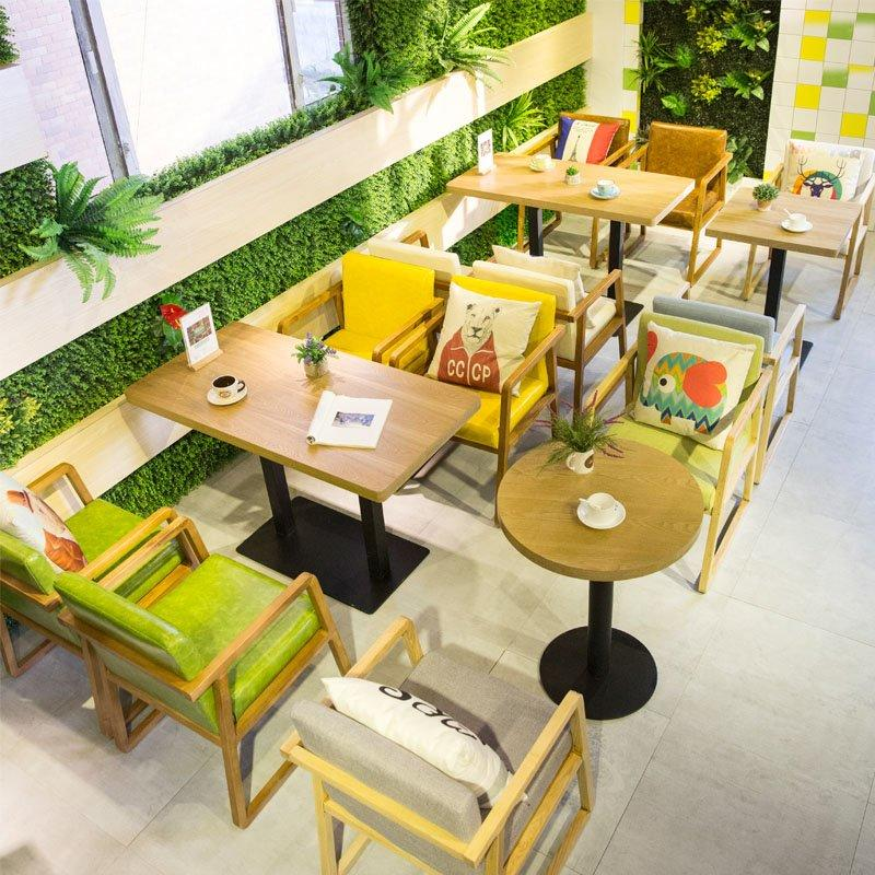 Modern Restaurant Wooden Table Set With Armchair GROUP211