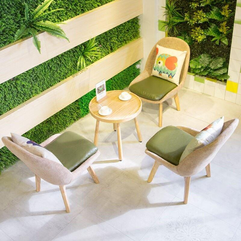 Contemporary Cafe Timber Round Tables And Chairs GROUP212