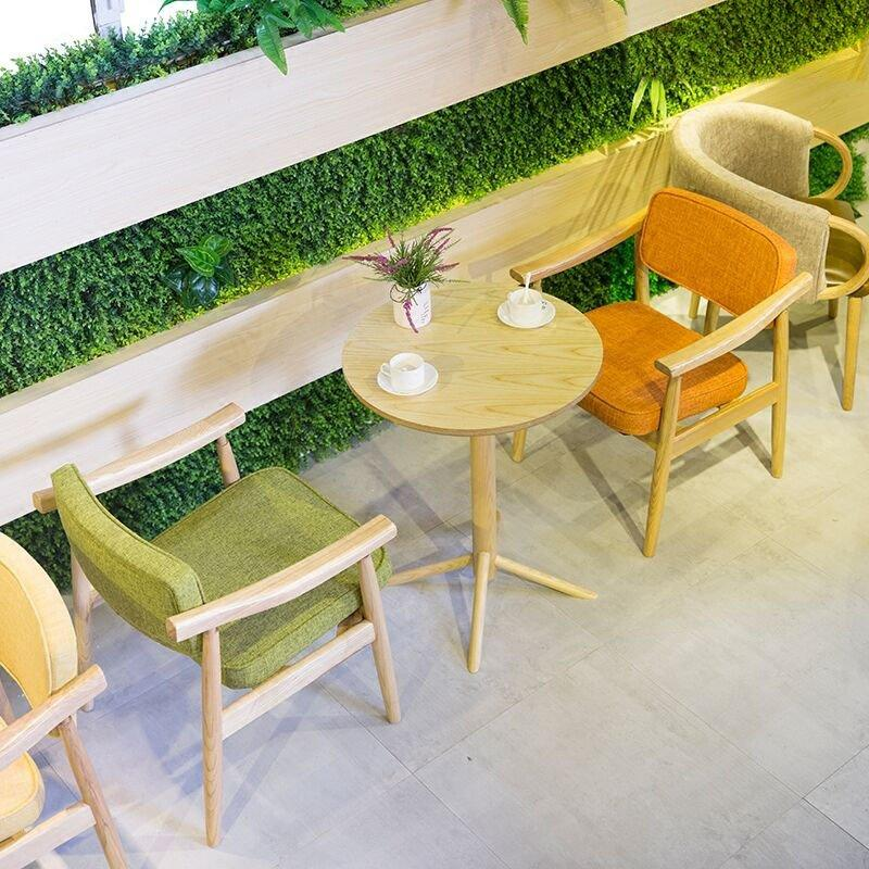 Fashion Wood Tables And Fabric Dining Chairs GROUP213