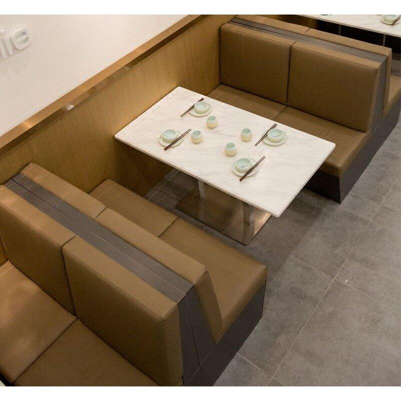 Modern Hot Pot Restaurant Marble Tables And Chairs GROUP217