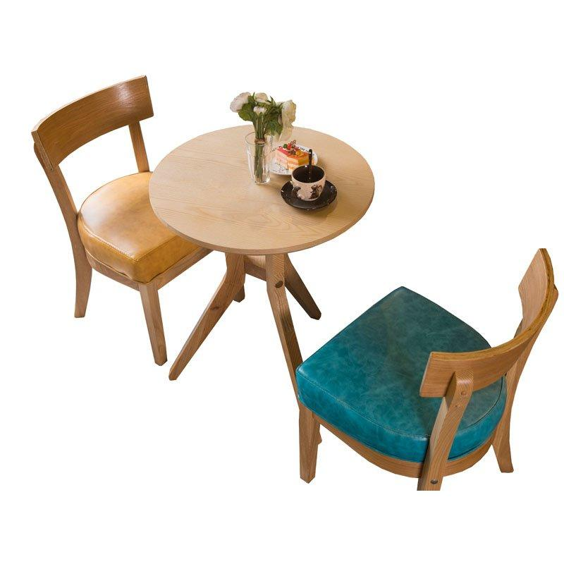 New Design Coffee Shop Solid Wood Table Chair GROUP220