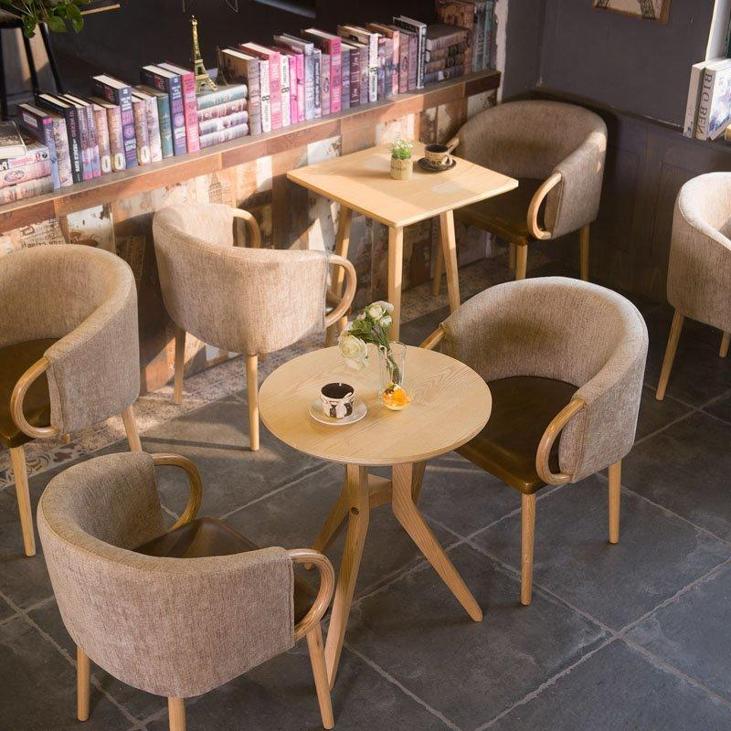 Comfortable Coffee Chair And Wooden Round Table GROUP221