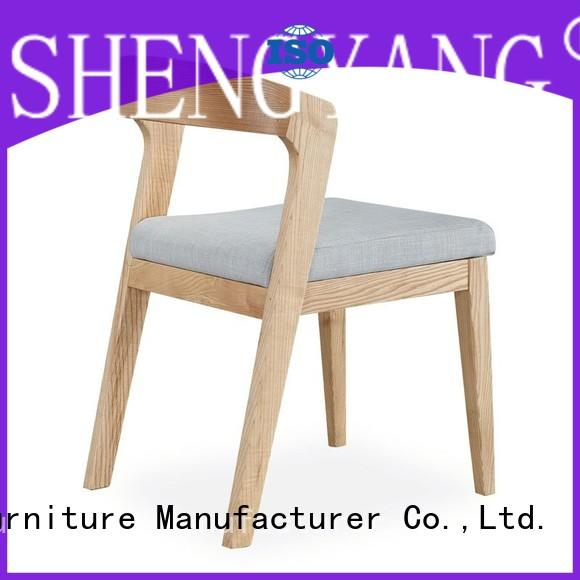 ShengYang restaurant furniture sturdy construction grey fabric dining room chairs unique for dining-hall