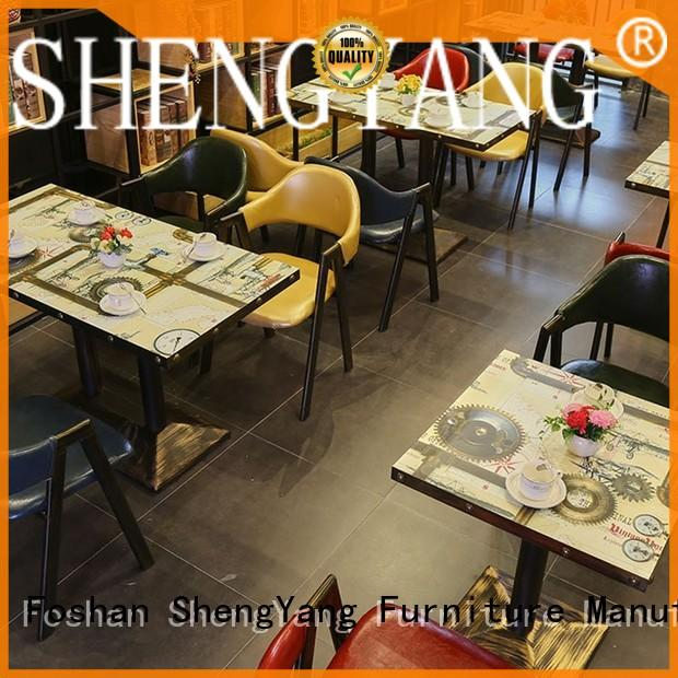 ShengYang restaurant furniture commercial canteen furniture overseas trader for coffee house