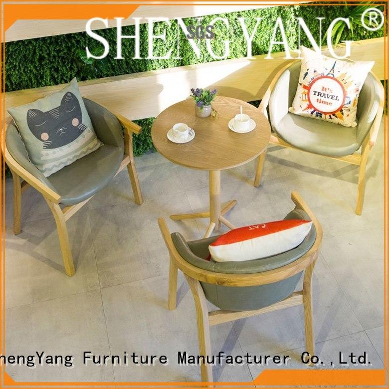 ShengYang restaurant furniture large production cafeteria furniture international trader for foyer