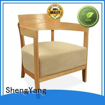 ShengYang Brand single lounge leisure furniture style linen