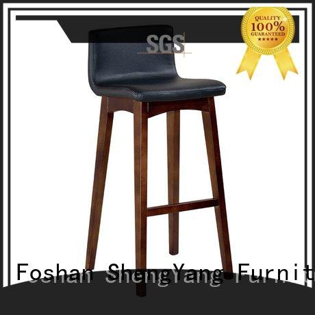 ShengYang horn leather ba001 metal counter stools nordic