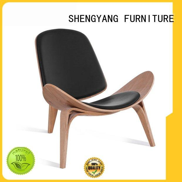 ShengYang recliner nordic single leather recliner chairs wood
