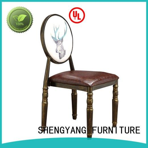 metal kitchen chairs nordic shop ShengYang Brand